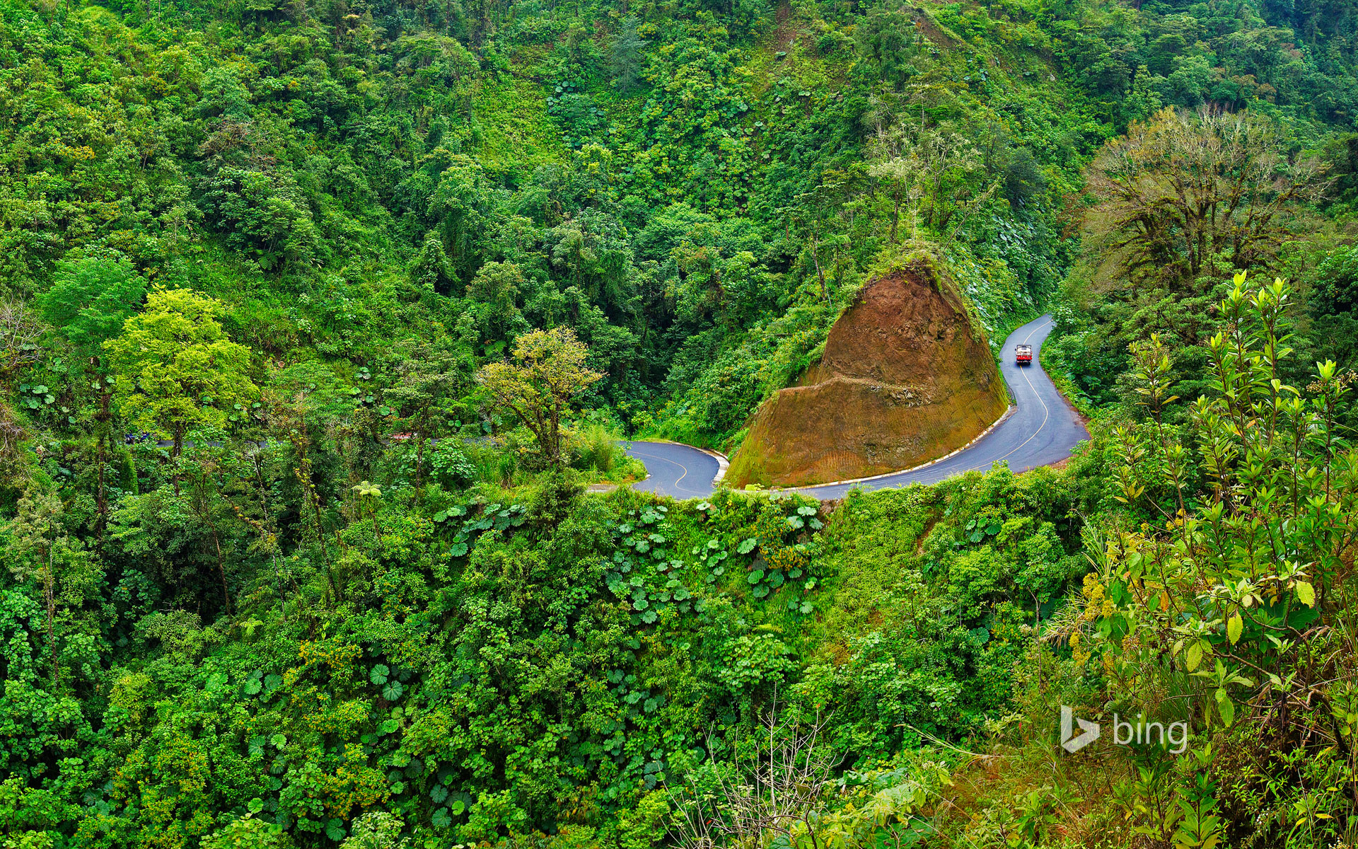 A road to Arenal Volcano National Park in Costa Rica