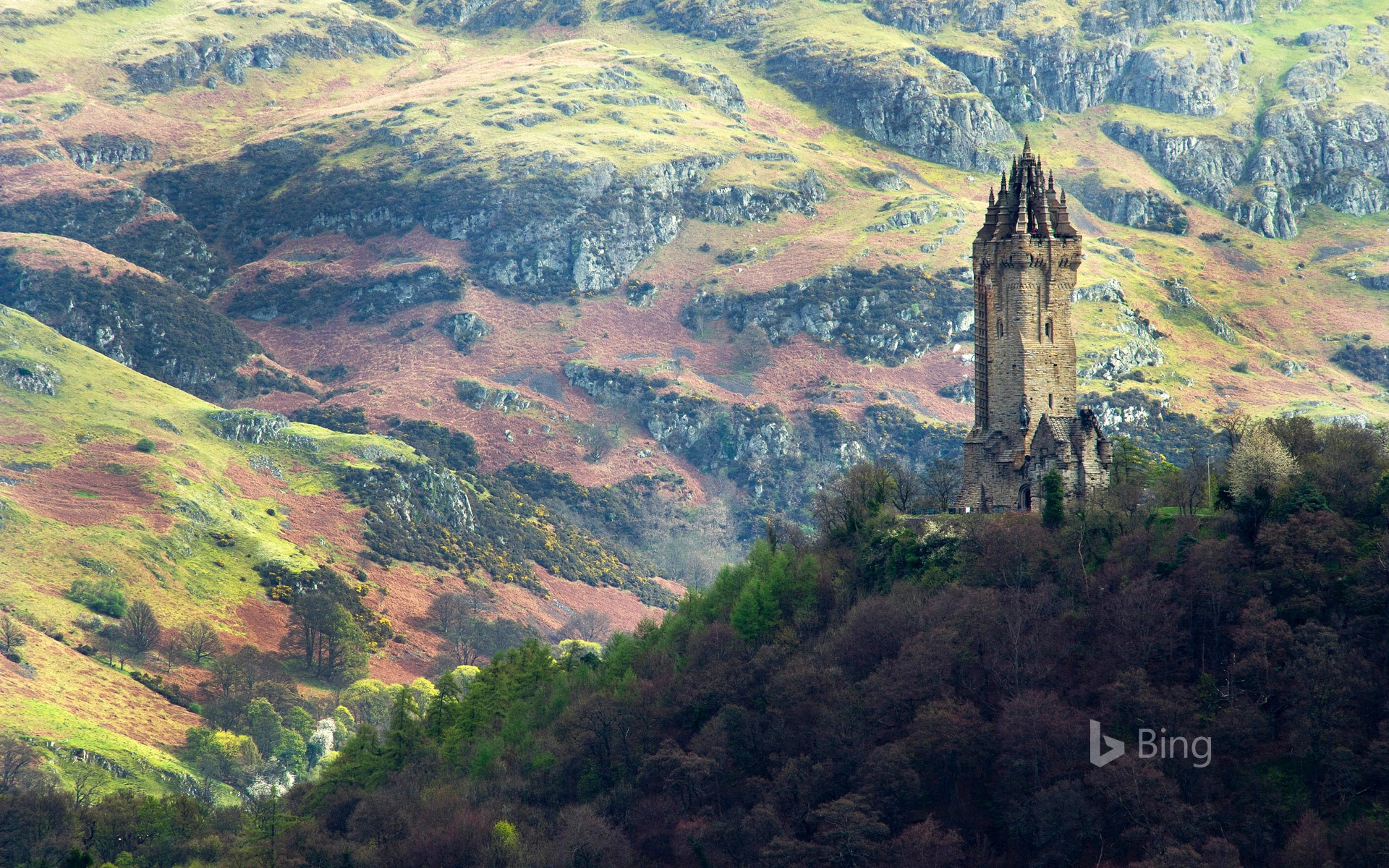 The National Wallace Monument, overlooking Stirling, Scotland (© Elena Korchenko/age fotostock)