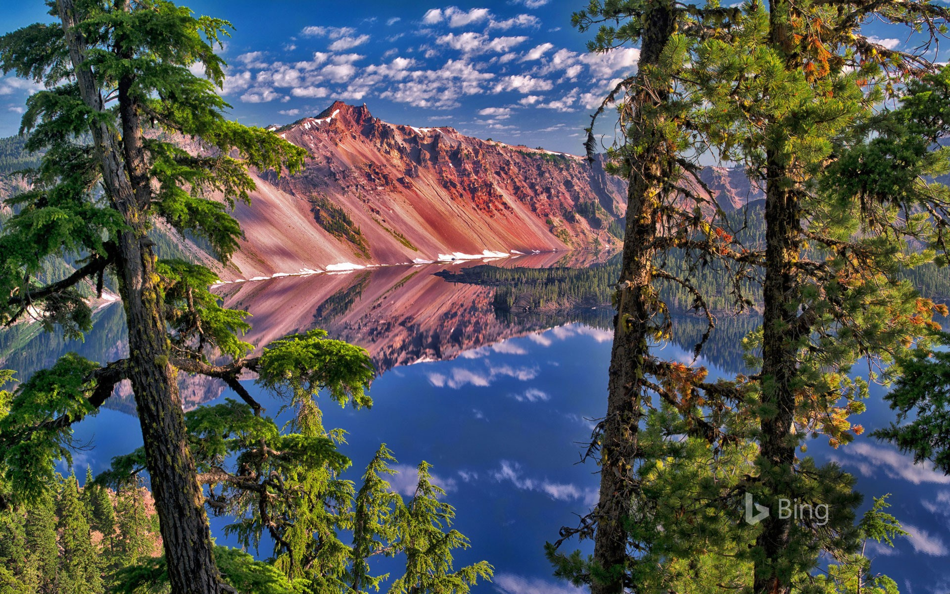 The Watchman Peak in Crater Lake National Park, Oregon