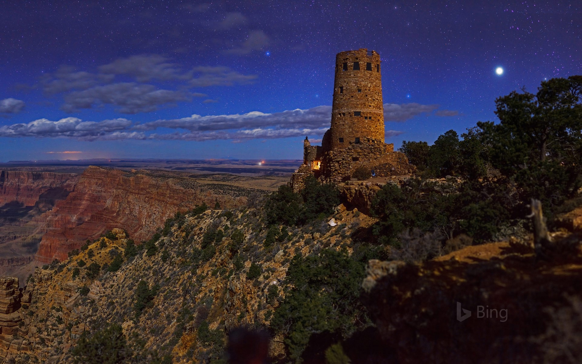 Desert View Watchtower, Grand Canyon National Park, Arizona (© Babak Tafreshi/National Geographic/Getty Images)