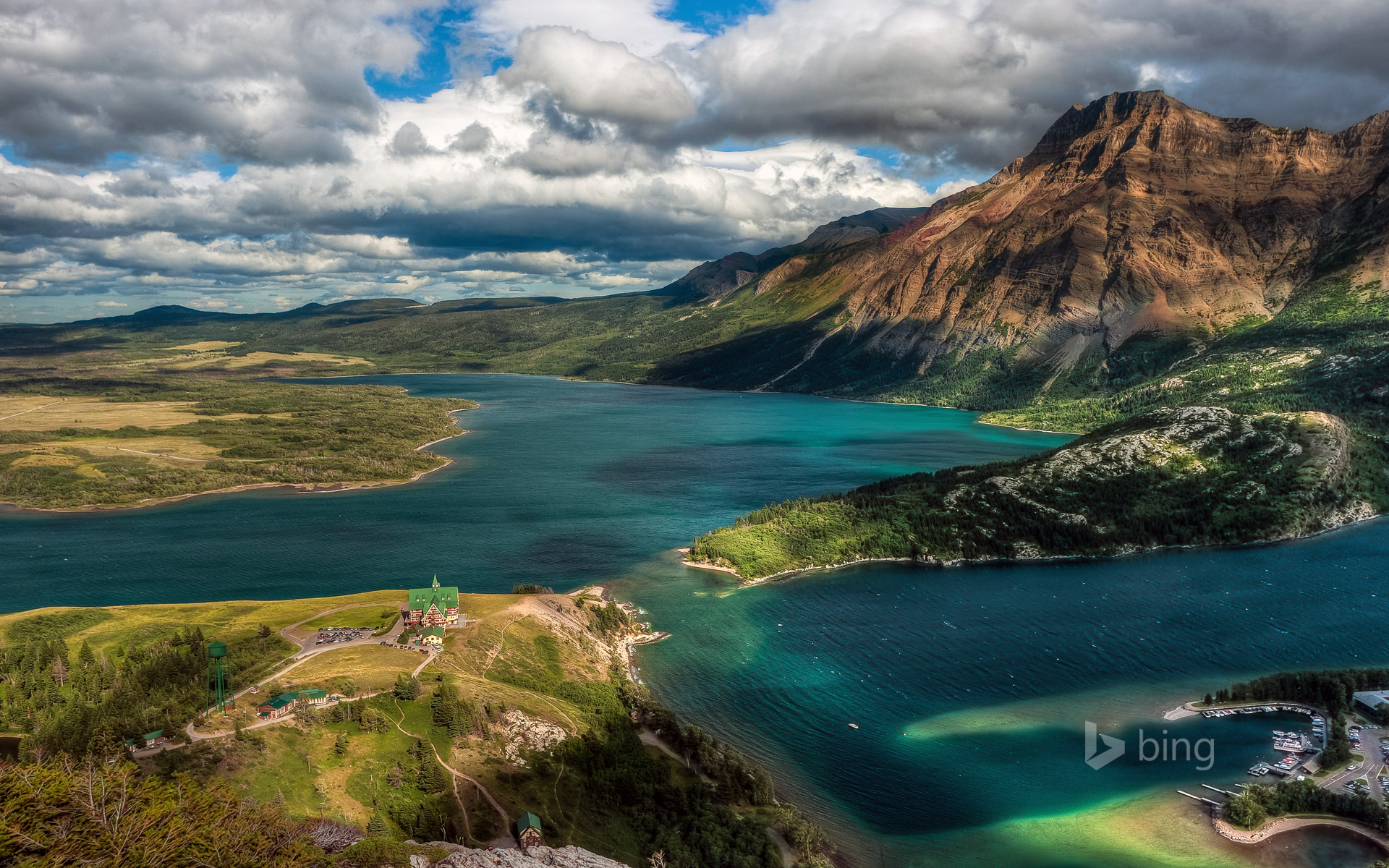 A view from Bear's Hump in Waterton Lakes National Park, Alberta, Canada