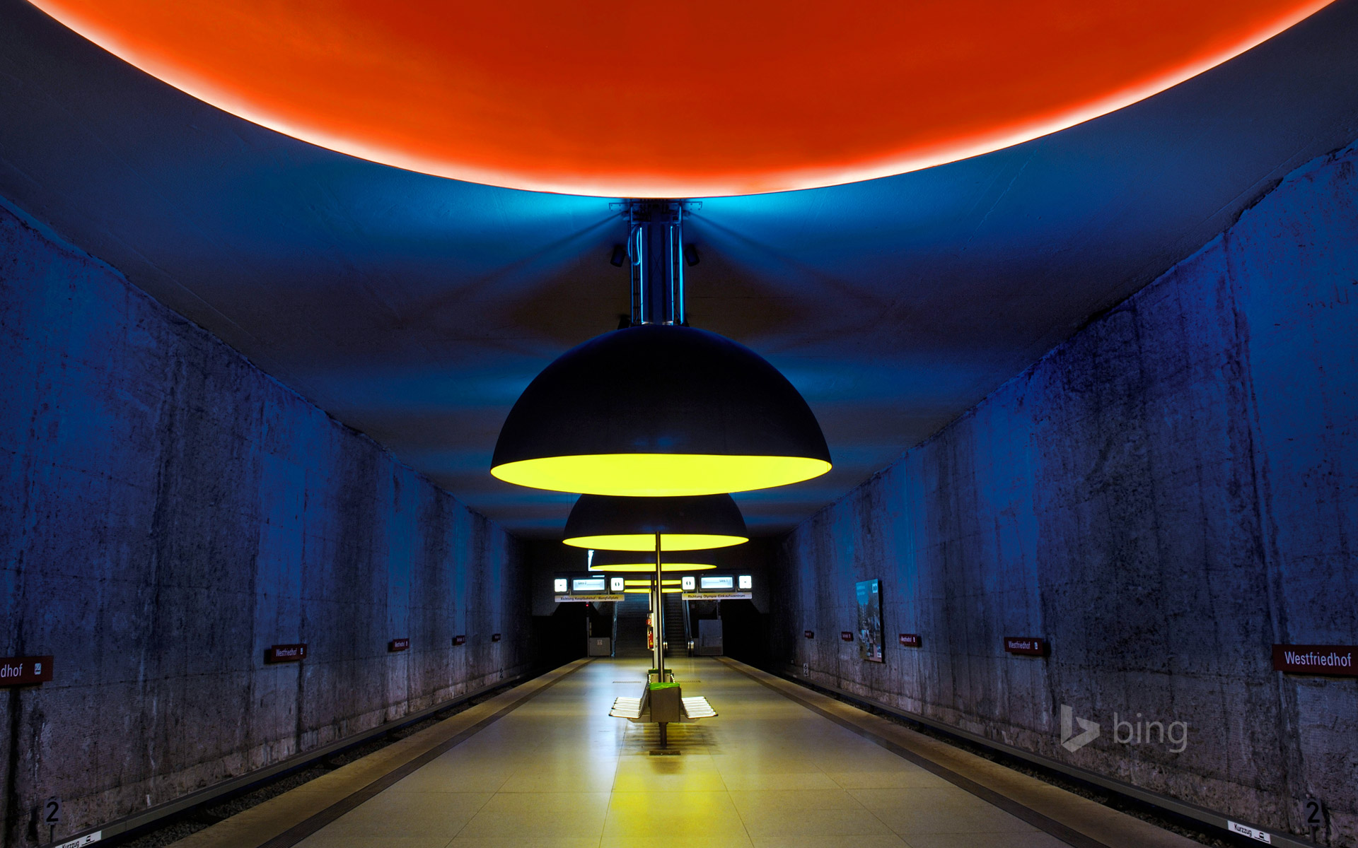 Westfriedhof subway station in Munich, Germany