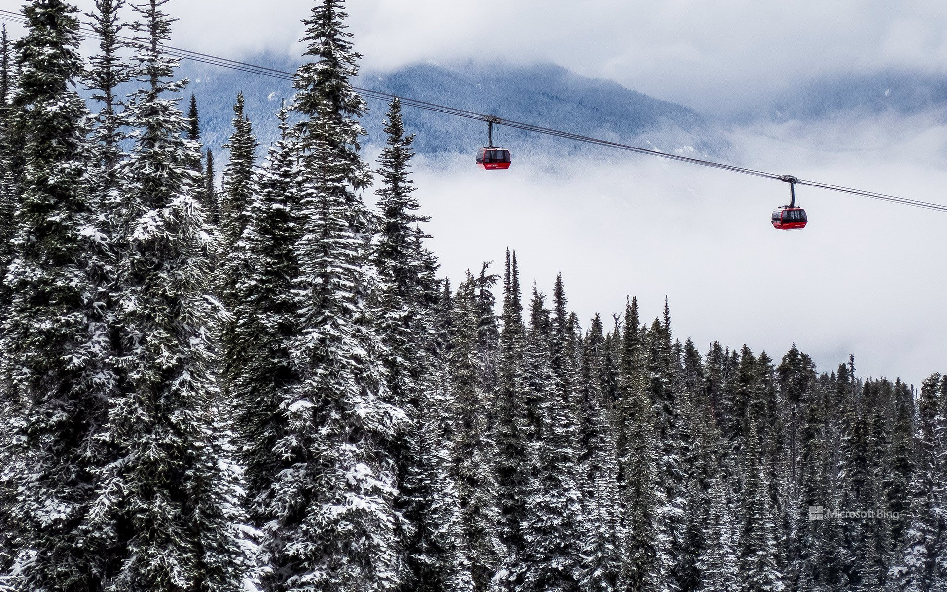 Ski lifts in Whistler, B.C.