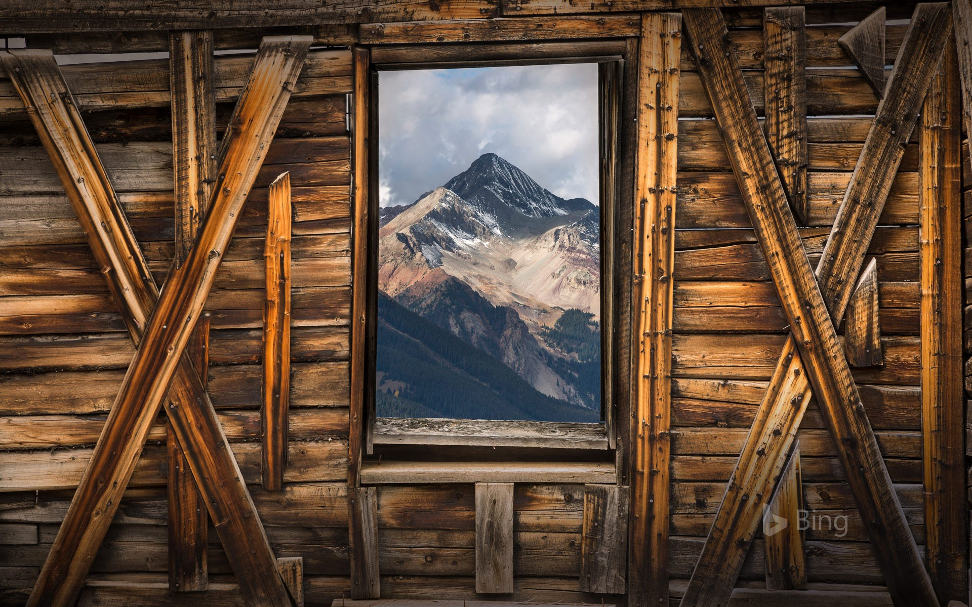 Wilson Peak seen from Alta, a ghost town in Colorado, USA