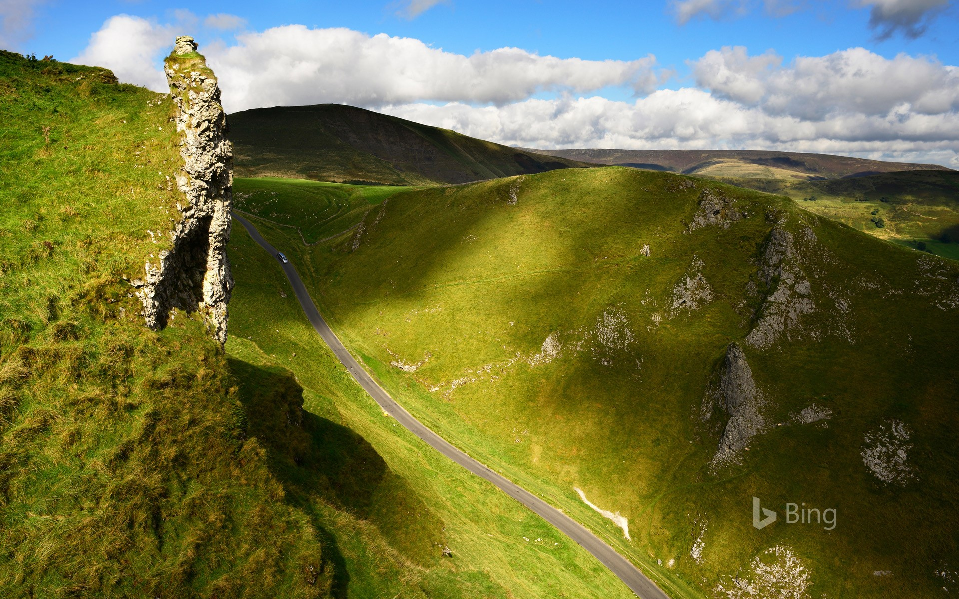 Winnats Pass in the Peak District of Derbyshire, England