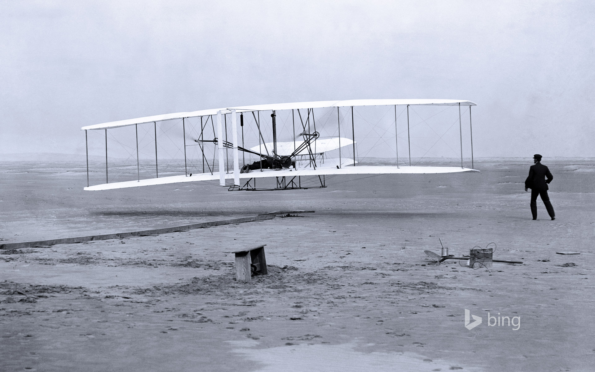 Wright brothers' first airplane flight in 1903