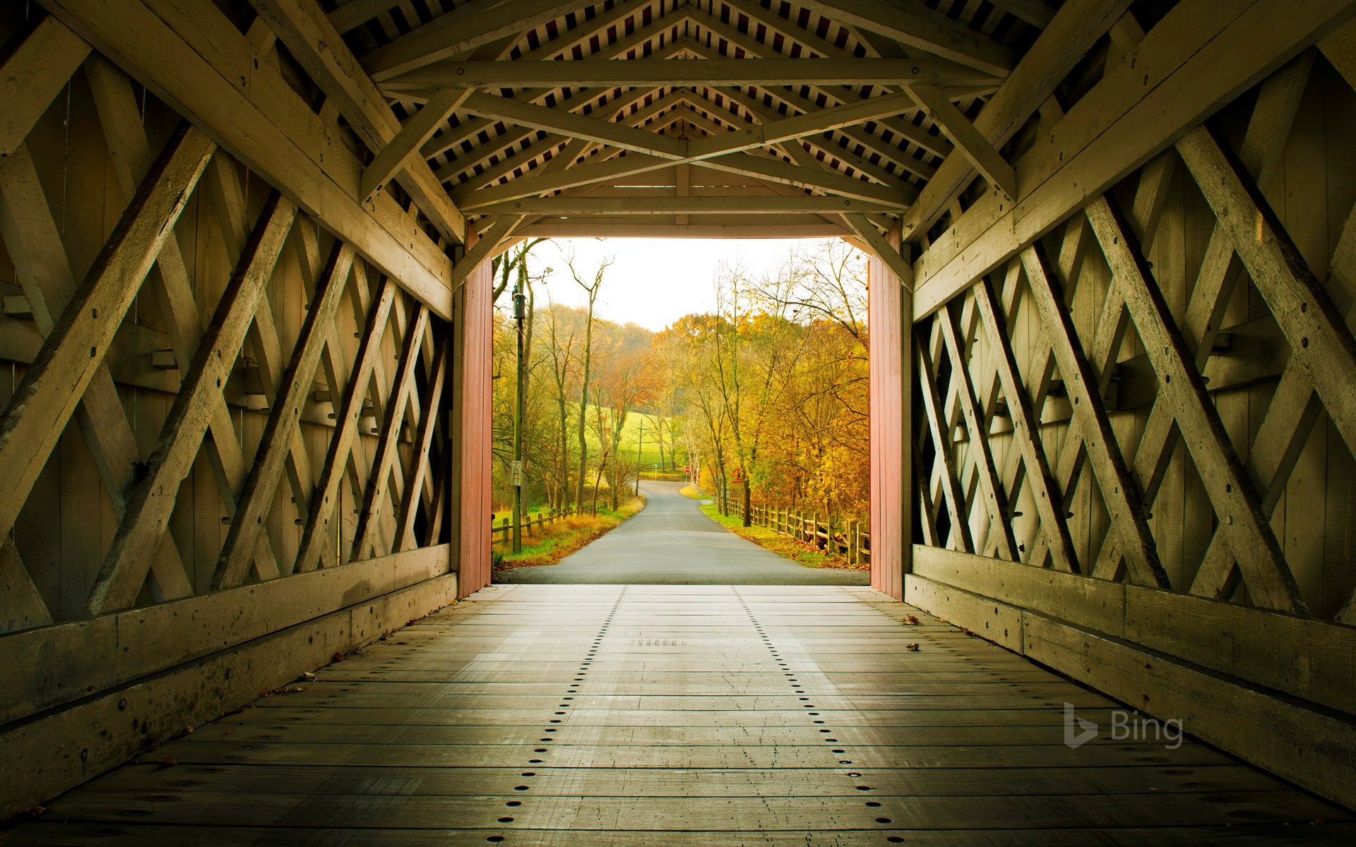 Cedar Covered Bridge, Winterset, Iowa загрузить
