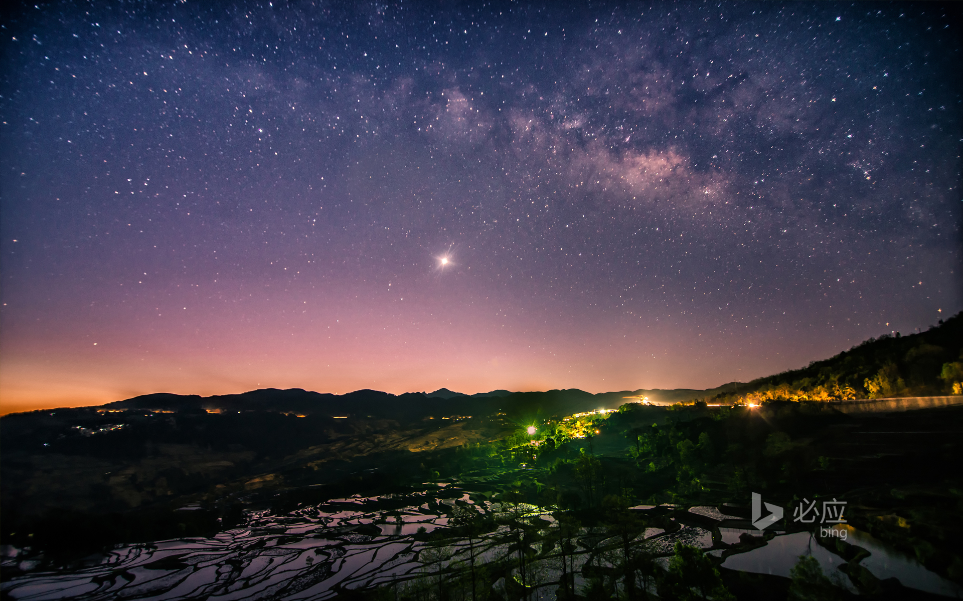 The Milky Way in Yuanyang County