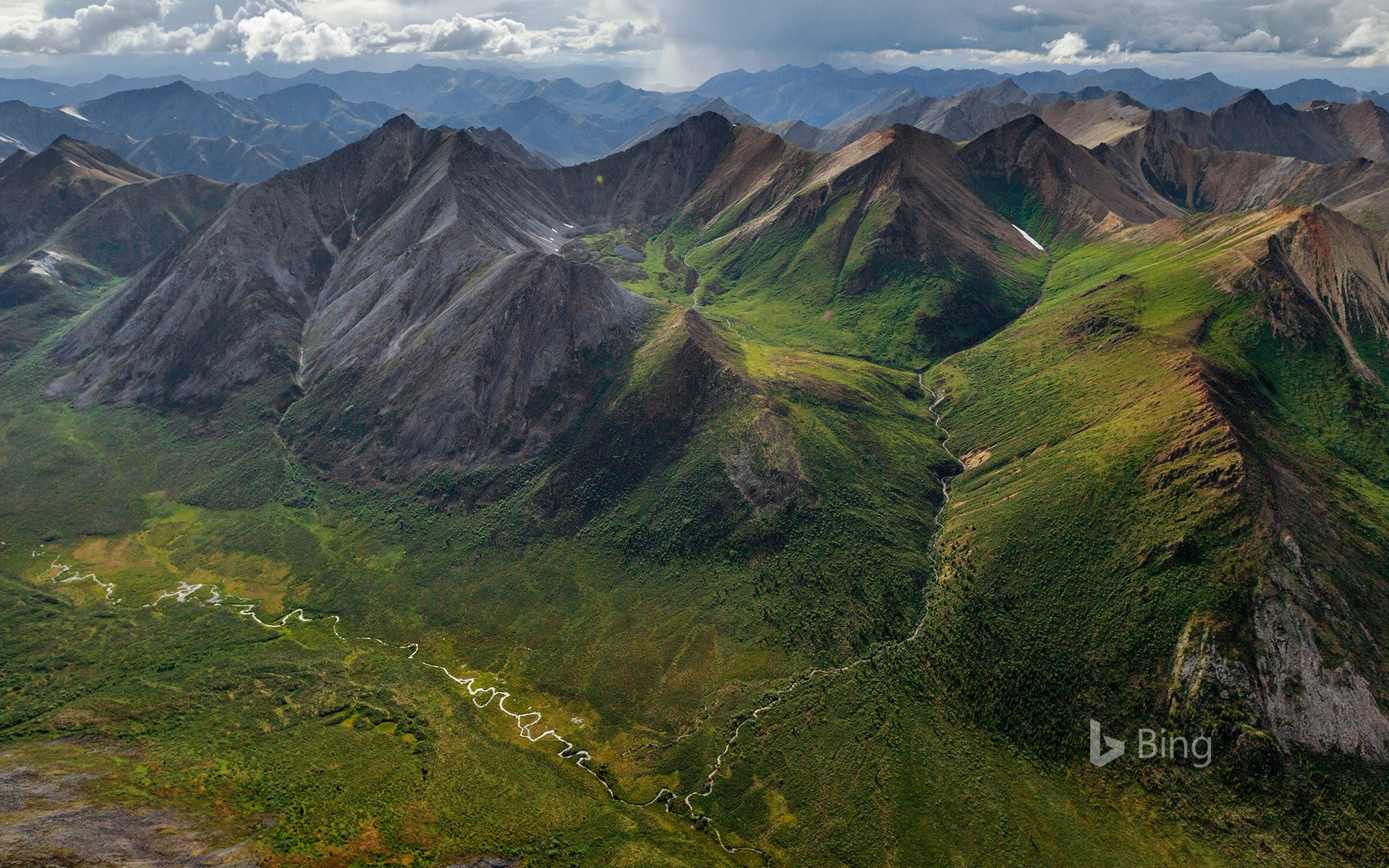 Rugged peaks and braided rivers in the Peel Watershed, Yukon, Canada